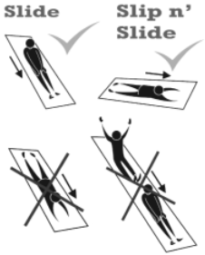 Inflatable Slide Instructions, Safe Sliding Technique