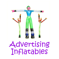 Sierra Madre advertising inflatable rentals