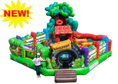 backyard inflatable combo