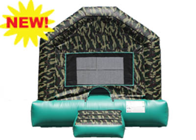 Camouflage bounce house rental