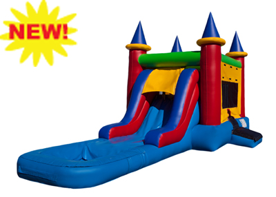 EZ castle combo waterslide rental