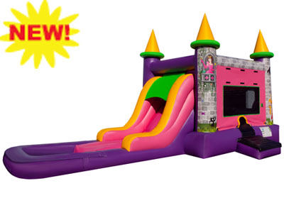 EZ Princess Combo Waterslide Rental