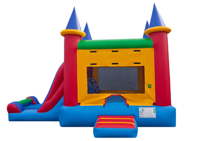 castle bounce house and slide