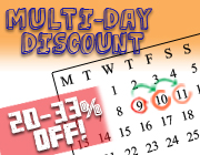 multi day party rental discount