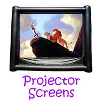 Projector Screen Party Rentals
