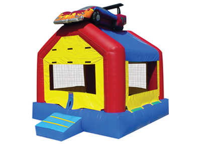 bounce house, race car bouncer