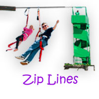 zip line ride rental