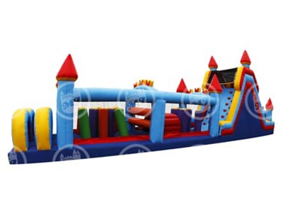 obstacle course, inflatable obstacle course, castle obstacle course
