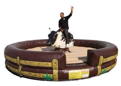 mechanical bull ride, interactive games