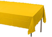 yellow rectangular table cover