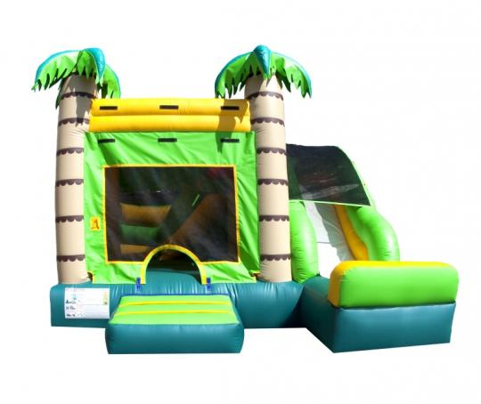 tropical inflatable combo, tropical bounce and Slide, tropical jump and slide