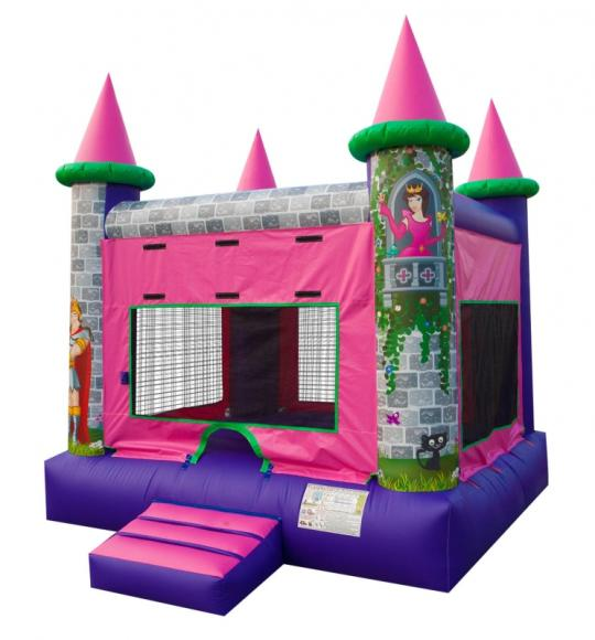 inflatable princess castle bounce house rental