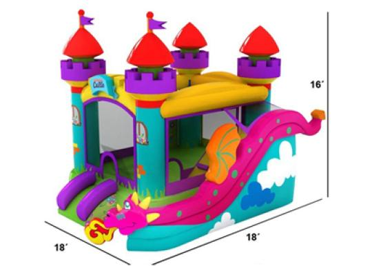 Enchanted Castle Inflatable Combo