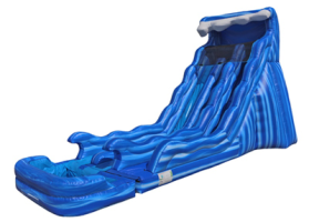 20' Wave Dual Lane Water Slide