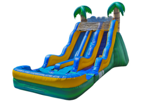 17' Tropical Dual Lane Water Slide