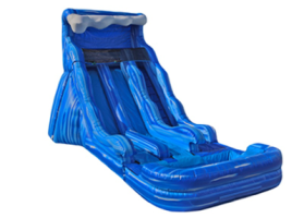 17' Wave Dual Lane Water Slide