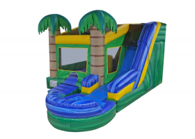 6in1 Tropical Combo Waterslide