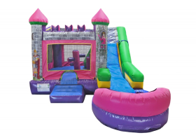 6in1 Princess Castle Combo Waterslide